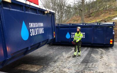 Första reningsutrustningen till Hagalund